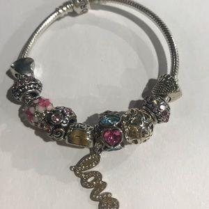 Authentic Sterling silver Pandora bracelet
